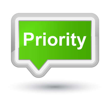 Priority isolated on prime soft green banner button abstract illustration Фото со стока