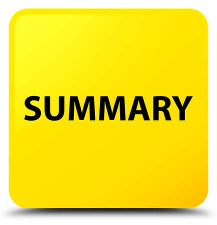 Summary isolated on yellow square button abstract illustration