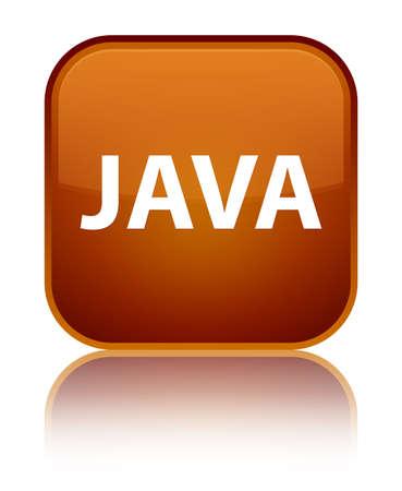 特別な茶色の正方形のボタンで分離された Java 反映の抽象的なイラスト