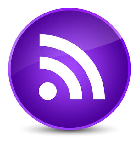 RSS icon isolated on elegant purple round button abstract illustration