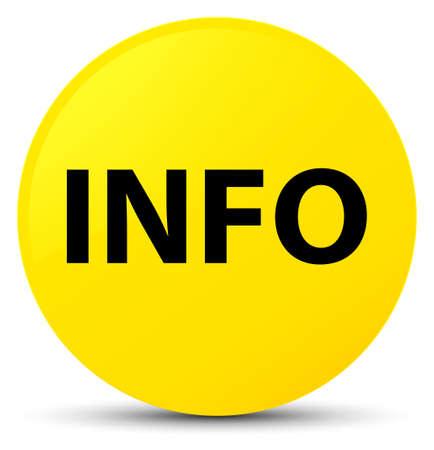istruzione: Info isolato su giallo rotondo illustrazione astratto pulsante