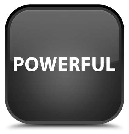 Powerful isolated on special black square button abstract illustration 版權商用圖片