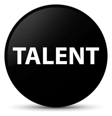 Talent isolated on black round button abstract illustration