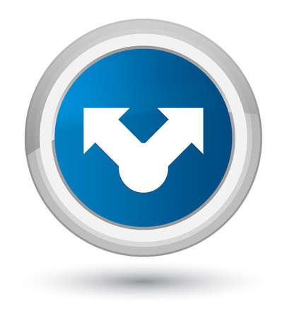 プライムブルーラウンドボタンの抽象的なイラストに分離された共有アイコン