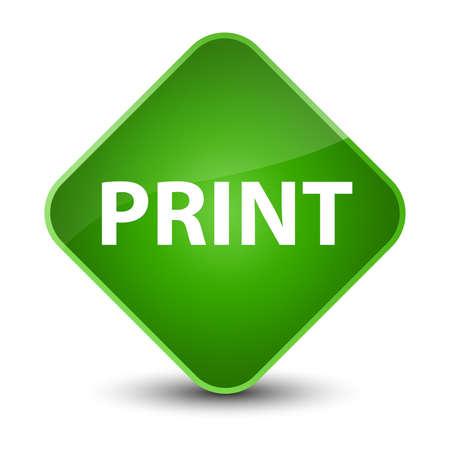 Print isolated on elegant green diamond button abstract illustration