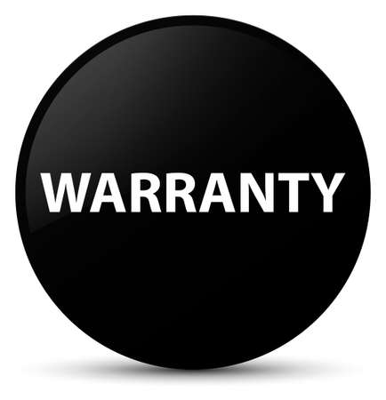 Warranty isolated on black round button abstract illustration Stock Photo