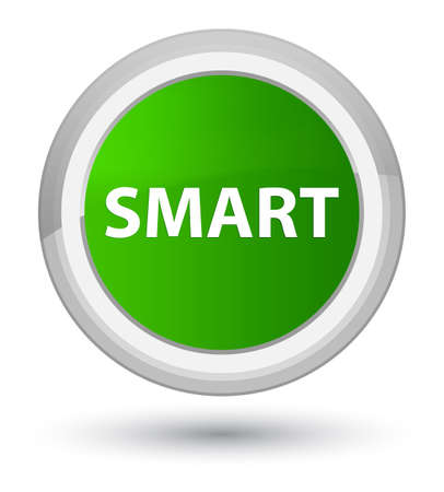 Smart isolated on prime green round button abstract illustration Imagens