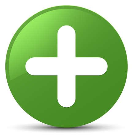 plus icône isolé sur rond bouton rond bleu illustration vectorielle