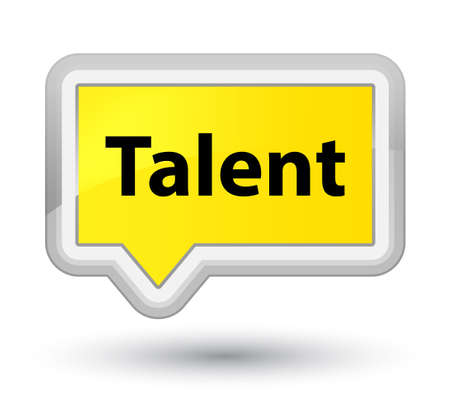 Talent isolated on prime yellow banner button abstract illustration Stock fotó