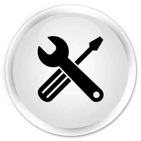 Tools icon isolated on premium white round button abstract illustration