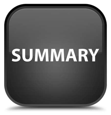 Summary isolated on special black square button abstract illustration