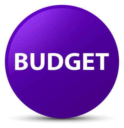Budget isolated on purple round button abstract illustration