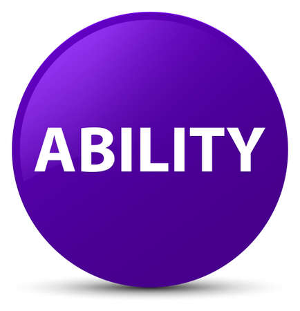 Ability isolated on purple round button abstract illustration Stock Photo