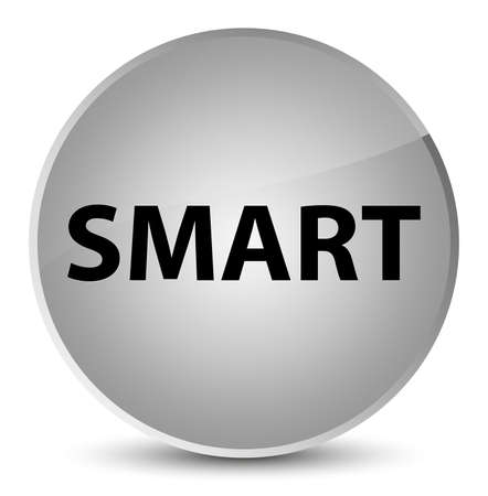 Smart isolated on elegant white round button abstract illustration Imagens - 88699185
