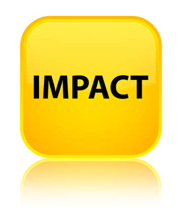 Impact isolated on special yellow square button reflected abstract illustration