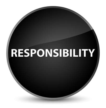 Responsibility isolated on elegant black round button abstract illustration