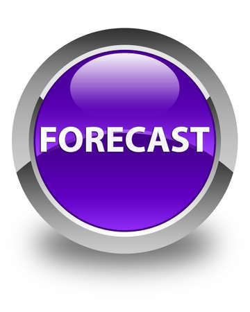 Forecast isolated on glossy purple round button abstract illustration Banco de Imagens