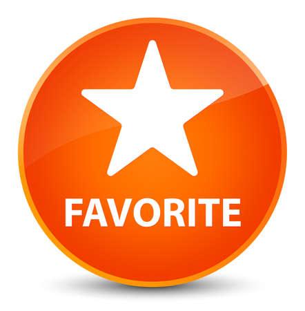 Favorite (star icon) isolated on elegant orange round button abstract illustration