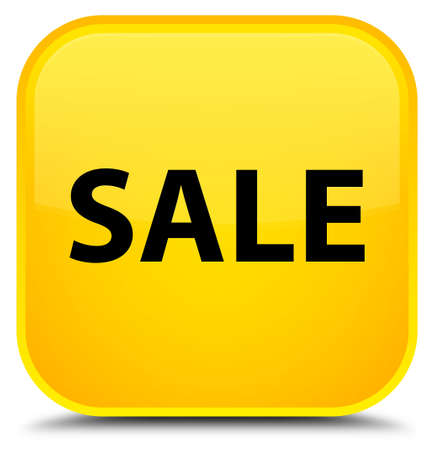 Sale isolated on special yellow square button abstract illustration Stock Photo
