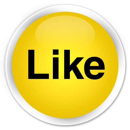 Like isolated on premium yellow round button abstract illustration Stock Illustration - 88705710