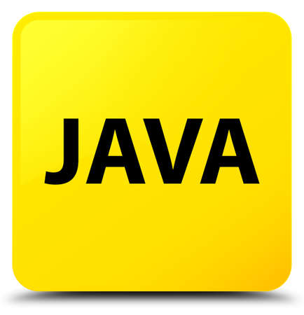 Java isolated on yellow square button abstract illustration
