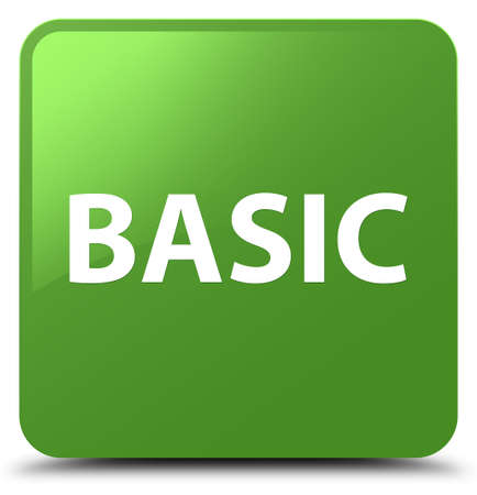Basic isolated on soft green square button abstract illustration