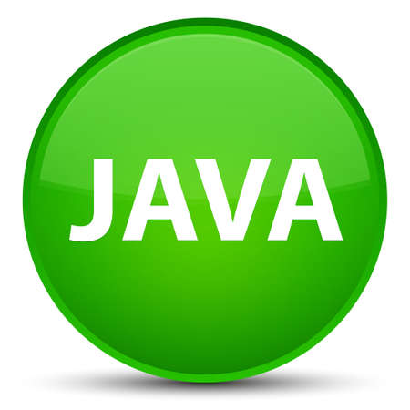 Java isolated on special green round button abstract illustration
