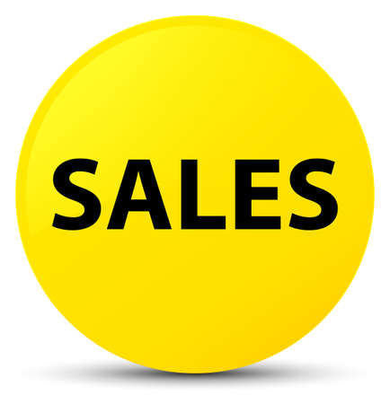 Sales isolated on yellow round button abstract illustration
