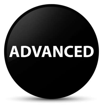 Advanced isolated on black round button abstract illustration