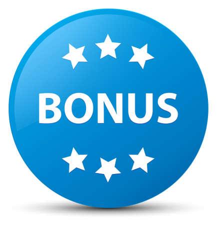 Bonus icon isolated on cyan blue round button abstract illustration
