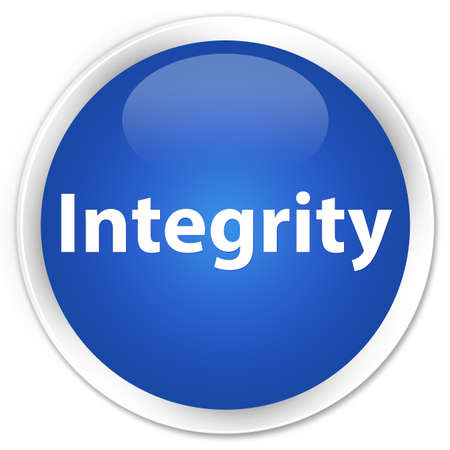 Integrity isolated on premium blue round button abstract illustration