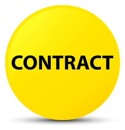 Contract isolated on yellow round button abstract illustration Stock Photo