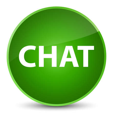 Chat isolated on elegant green round button abstract illustration