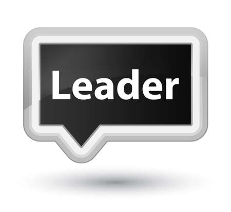 Leader isolated on prime black banner button abstract illustration