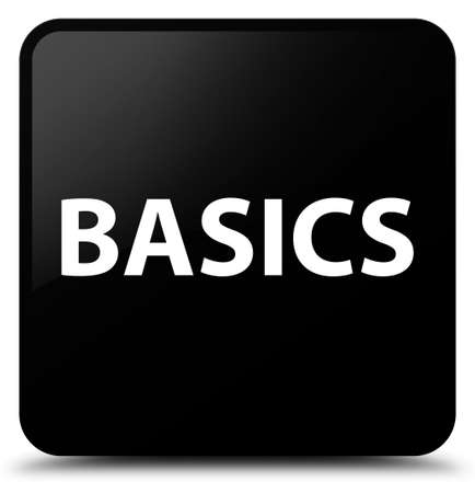 Basics isolated on black square button abstract illustration Фото со стока