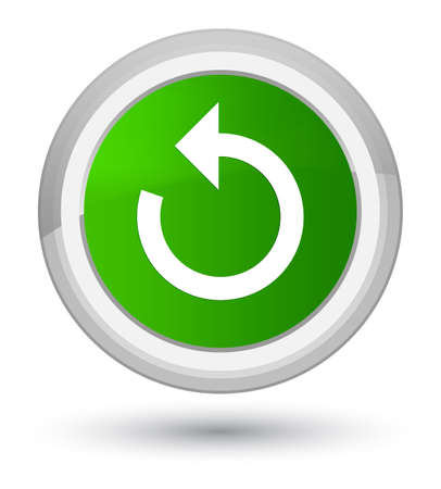 Refresh arrow icon isolated on prime green round button abstract illustration