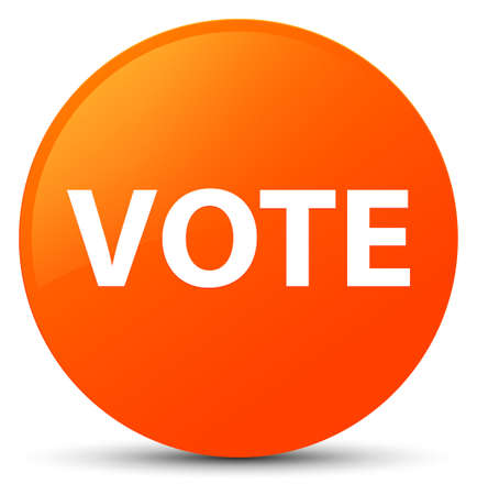Vote isolated on orange round button abstract illustration Stock Photo
