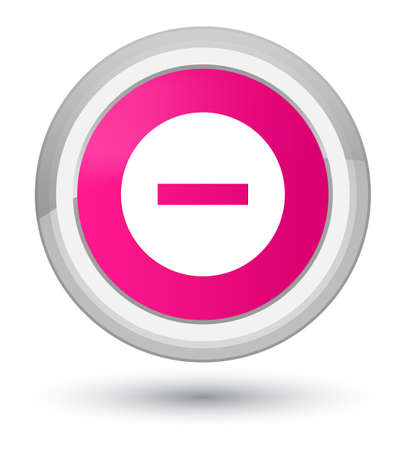 Cancel icon isolated on prime pink round button abstract illustration