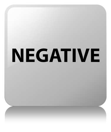 Negative isolated on white square button reflected abstract illustration