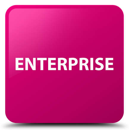 Enterprise isolated on pink square button abstract illustration