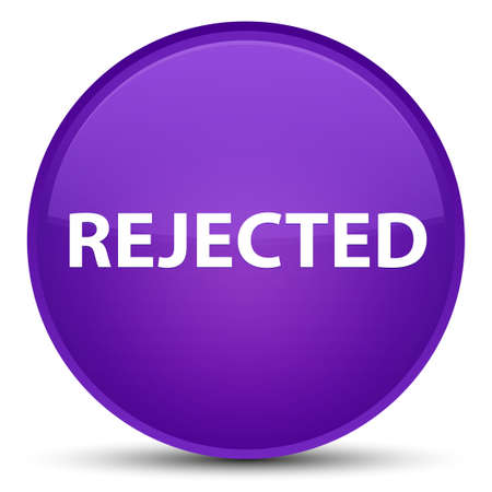 Rejected isolated on special purple round button abstract illustration Stock Photo