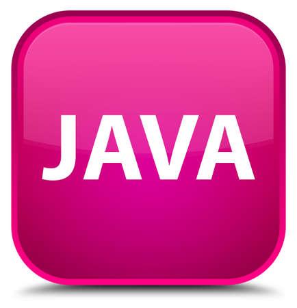 特別なピンクの正方形ボタンの抽象的なイラストに分離された Java