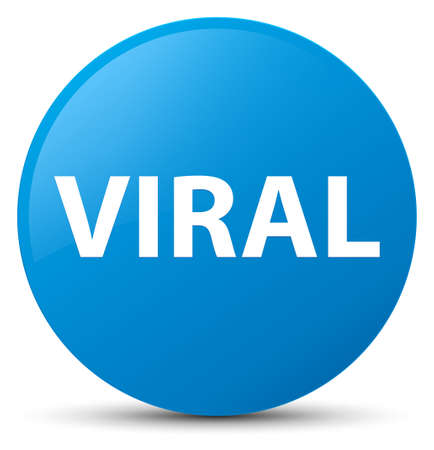 Viral isolated on cyan blue round button abstract illustration