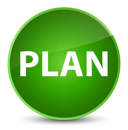 Plan isolated on elegant green round button abstract illustration