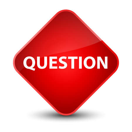Question isolated on elegant red diamond button abstract illustration Stock Photo