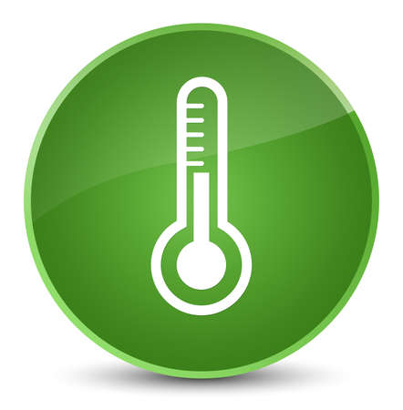 medical instrument: Thermometer icon isolated on elegant soft green round button abstract illustration