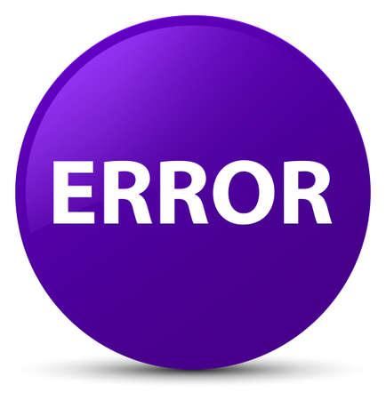 Error isolated on purple round button abstract illustration