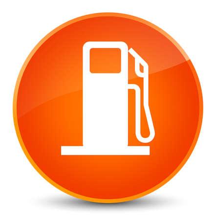 filling station: Fuel dispenser icon isolated on elegant orange round button abstract illustration Stock Photo