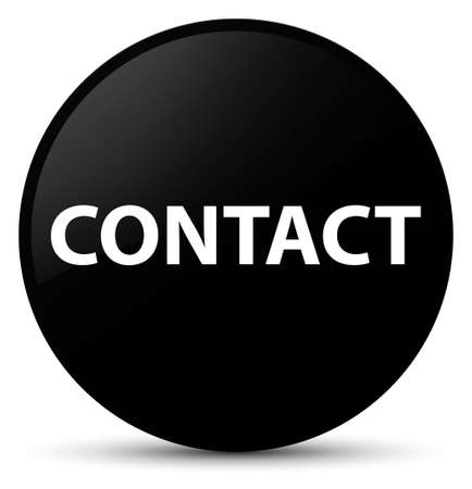 Contact isolated on black round button abstract illustration