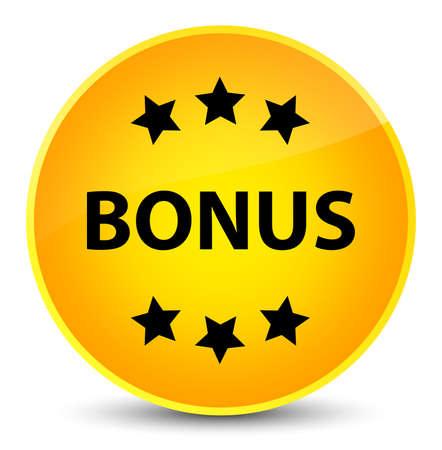 Bonus icon isolated on elegant yellow round button abstract illustration